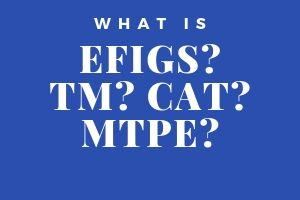 What is EFIGS? TM? CAT? MTPE?